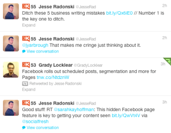 Posts on Twitter from Jesse Radonski