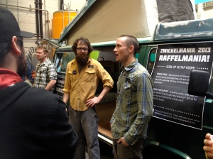 Brewmaster and owner, Justin Fay presenting the history of Base Camp